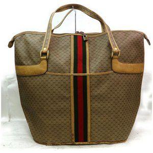 Unisex XL Vintage Gucci Travel Tote Bag Suitcase